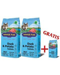 """WINNER PLUS HOLISTIC """"NEW"""" Duck & Potato 2 x 12 kg Sparpaket + 2kg Gratis"""