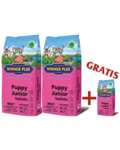 "WINNER PLUS HOLISTIC ""NEW"" Puppy Junior 2 x 12 kg Sparpaket + 2kg Gratis"