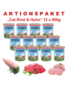 WP SUPER PREMIUM MENUE CAT Aktionspaket Rind & Huhn,    12 Dosen a´ 800g