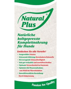 Prospekt NATURAL PLUS, kaltgepresst