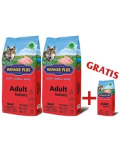 "WINNER PLUS HOLISTIC ""NEW"" Adult 2 x 12 kg Sparpaket + 2kg Gratis"