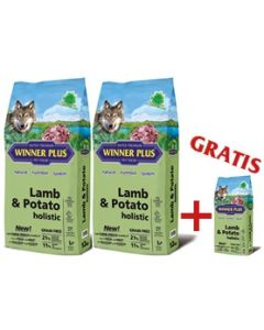"WINNER PLUS HOLISTIC ""NEW"" Lamb 100% & Potato 2 x 12 kg Sparpaket + 2kg Gratis"