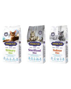 WINNER PLUS Cat HEALTH LINE 3 x 2kg Sparpaket