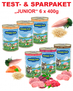 WP SUPER PREMIUM MENUE Testpaket JUNIOR, 6 Dosen a´ 400g